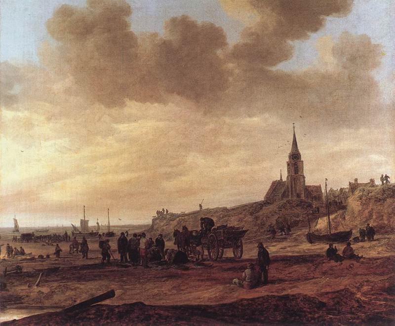 Beach at Scheveningen. Jan Van Goyen
