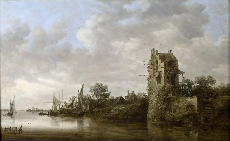 Riverside with an Old Tower. Jan Van Goyen