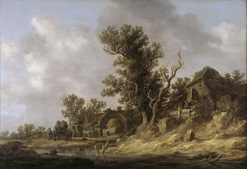 Resting at a Tavern. Jan Van Goyen