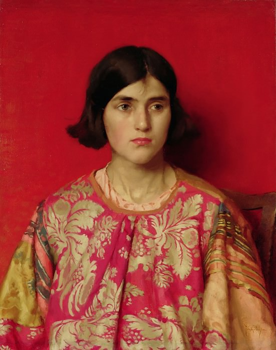 """The Exile: """"Heavy is the Price I Paid for Love"""". Thomas Cooper Gotch"""