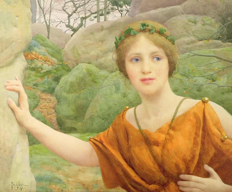 The Nymph «Now Again She Flies Aloof». Thomas Cooper Gotch