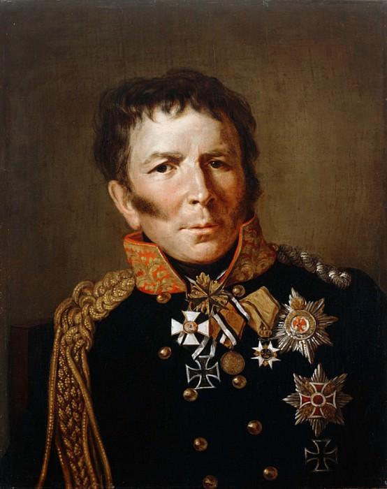 Portrait of Prussian war minister Hermann von Boyen. Francois Pascal Simon Gerard