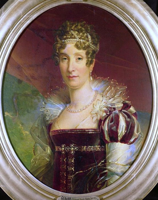 Portrait of Queen Marie Amelie of Bourbon (1782-1866). Francois Pascal Simon Gerard