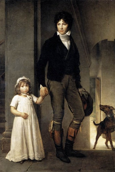 Jean Baptist Isabey Miniaturist With His Daughter. Francois Pascal Simon Gerard