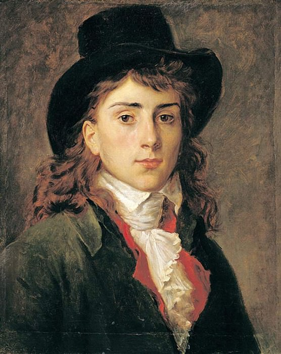 Portrait of Baron Antoine Jean Gros (1771-1835) Aged 20. Francois Pascal Simon Gerard