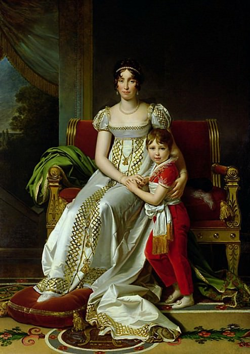 Hortense de Beauharnais (1783-1837) Queen of Holland and her Son Napoleon Charles Bonaparte. Francois Pascal Simon Gerard