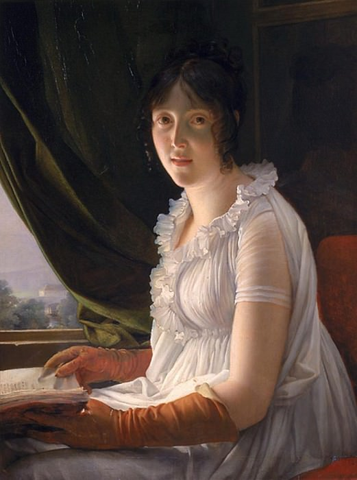 Seated Portrait of Marie-Philippe-Claude Walbonne (1763-c.1837). Francois Pascal Simon Gerard