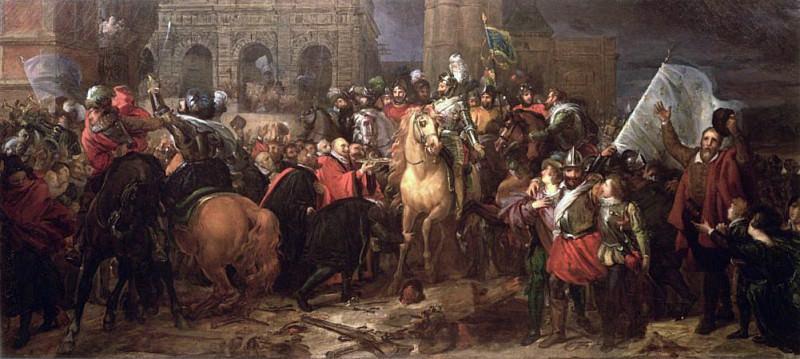 Entry of Henri IV into Paris 22nd March 1594. Francois Pascal Simon Gerard