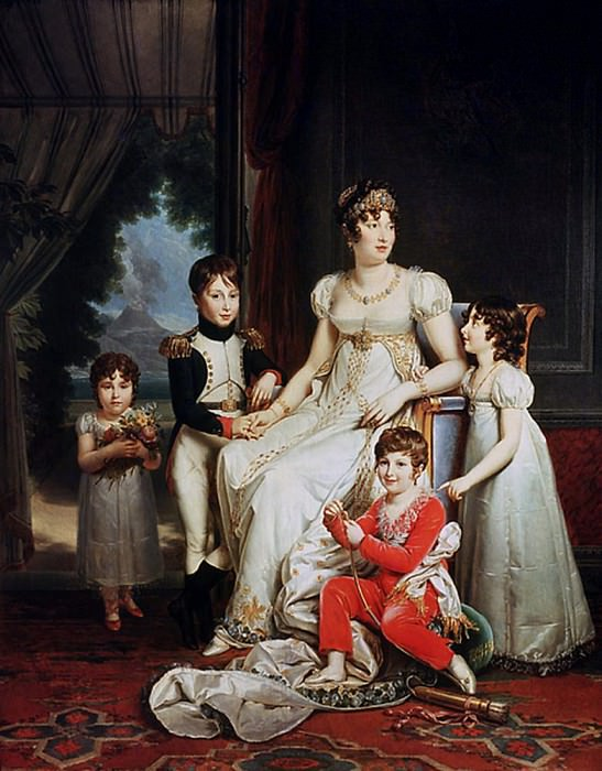Caroline Bonaparte (1782-1839) and her Children. Francois Pascal Simon Gerard