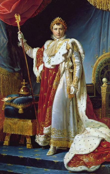 Napoleon I in his coronation robe. Francois Pascal Simon Gerard