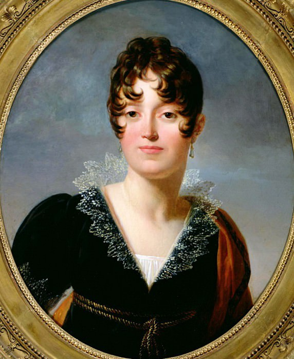 Portrait of Desiree Clary (1781-1860) Princess Royal of Sweden. Francois Pascal Simon Gerard
