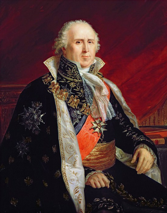 Charles-Francois Lebrun (1739-1824) Duke of Plaisance in the Costume of the Archtreasurer of the Empire. Francois Pascal Simon Gerard