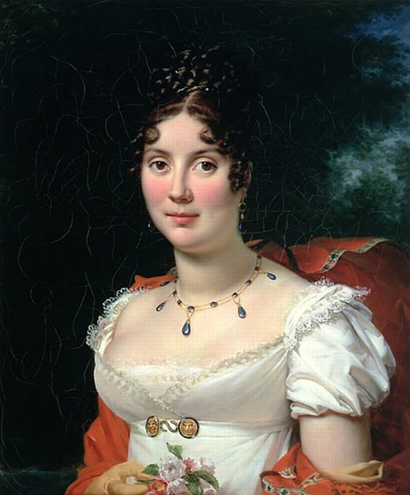 Portrait of a Lady in an Empire Dress. Francois Pascal Simon Gerard