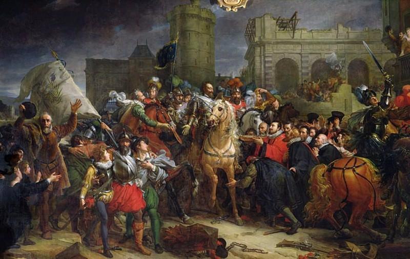 The Entry of Henri IV (1553-1610) into Paris 22nd March 1594. Francois Pascal Simon Gerard