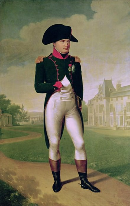 Наполеон I (1769-1821) в передней части Шато-де-Мальмезон. Франсуа Паскаль Симон Жерар