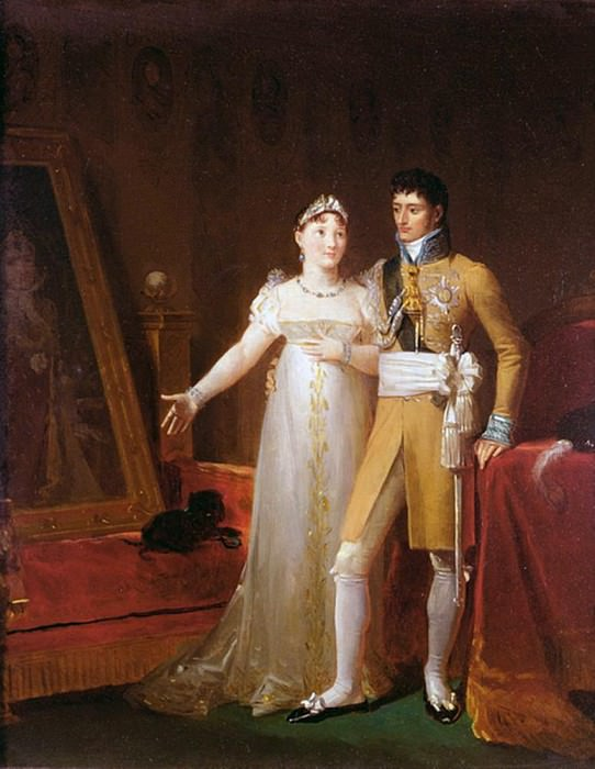 Portrait of Jerome Bonaparte (1784-1860) and his wife Catherine (1783-1835) of Wurtemberg. Francois Pascal Simon Gerard