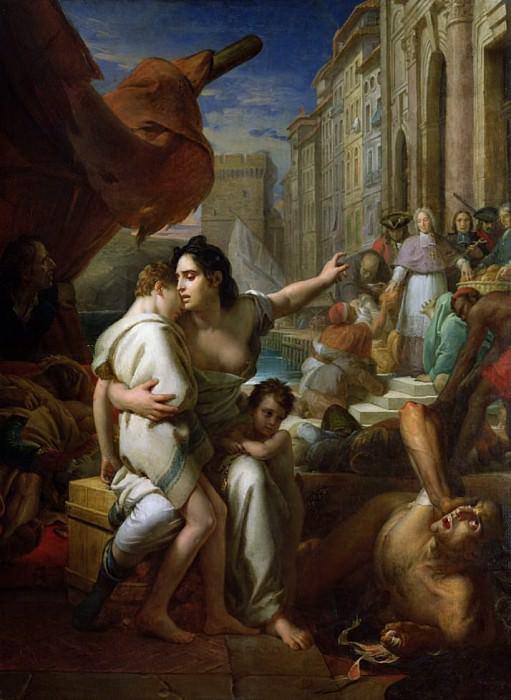 Monseigneur de Belsunce (1670-1755) during the Plague of Marseille in 1720. Francois Pascal Simon Gerard