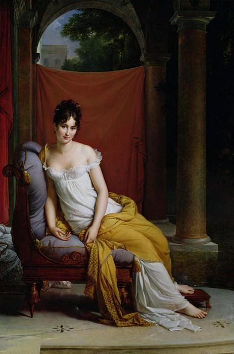 Portrait of Madame Recamier (1777-1849). Francois Pascal Simon Gerard