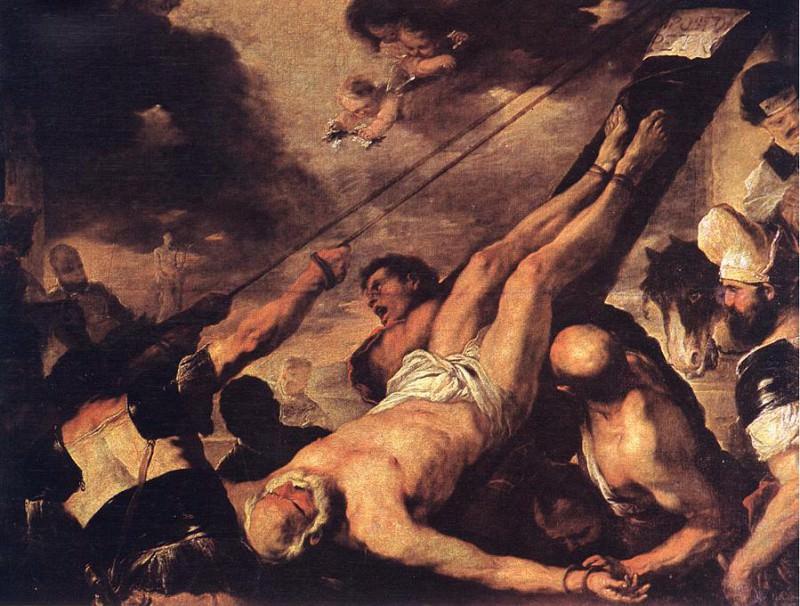 Распятие Святого Петра. Лука Джордано