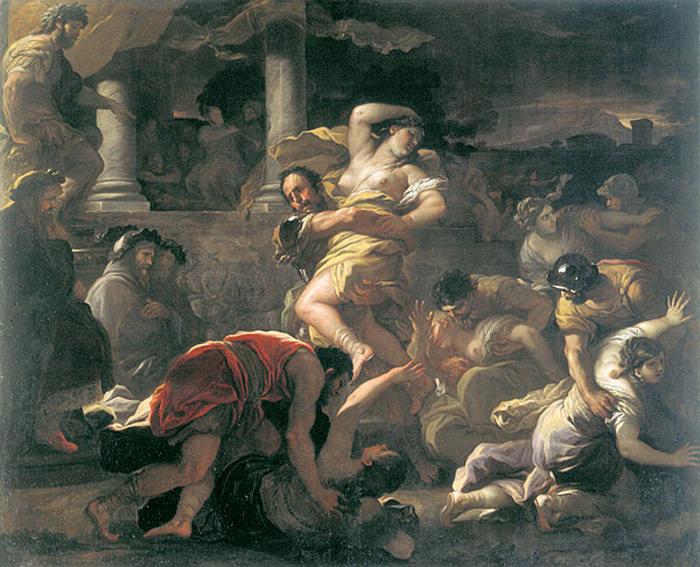 Il ratto delle Sabine. Luca Giordano