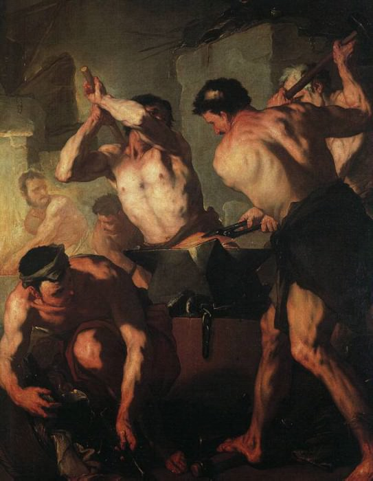 The Forge Of Vulcan. Luca Giordano