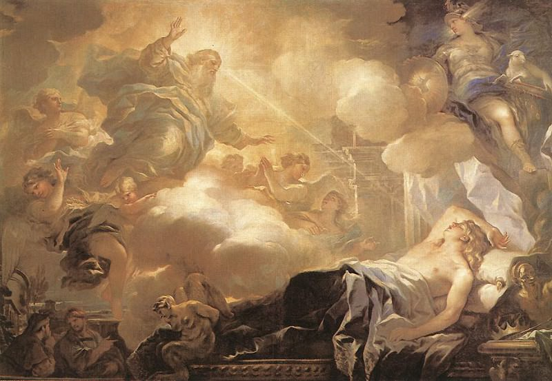 Dream Of Solomon. Luca Giordano