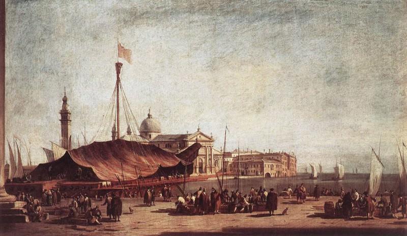 The Piazzetta Looking toward San Giorgio Maggiore. Francesco Guardi