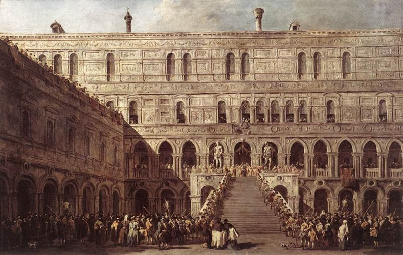 The Coronation of The Doge. Francesco Guardi