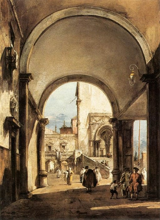 An Architectural Caprice. Francesco Guardi