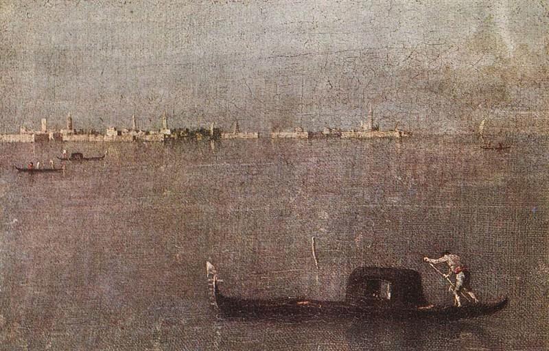 Gondola in the Lagoon. Francesco Guardi