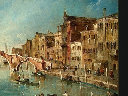 Guardi View on the Cannaregio Canal, Venice, c. 1775-1780,(3. Francesco Guardi