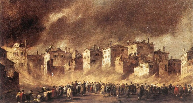 Fire in the Oil Depot at San Marcuola. Francesco Guardi