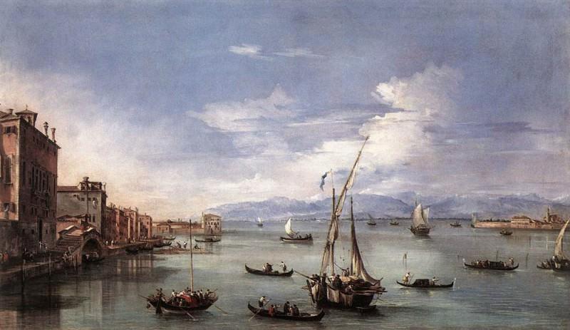 Вид на лагуну с набережной Фондамента Нуове. Франческо Гварди