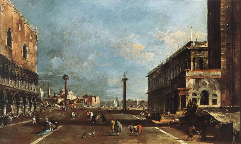 View of Piazzetta San Marco towards the San Giogio Maggiore. Francesco Guardi