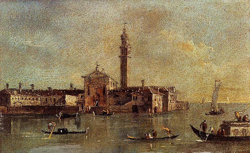 View Of The Island Of San Giorgio In Alga Venice. Francesco Guardi