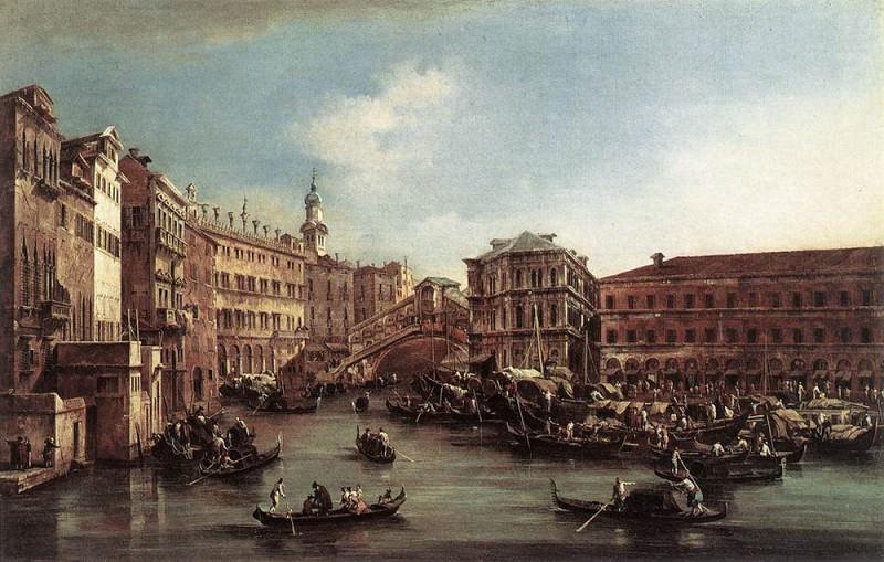 The Rialto Bridge with the Palazzo dei Camerlenghi. Francesco Guardi