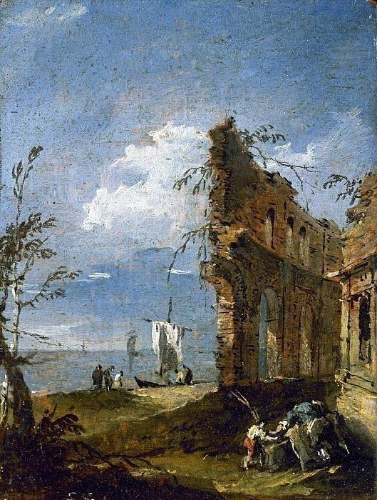 Каприччио с руинами римского акведука. Франческо Гварди