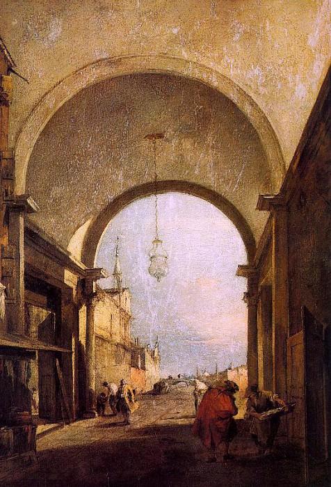 Франческо Гварди - Городской вид, 1775-80. Франческо Гварди