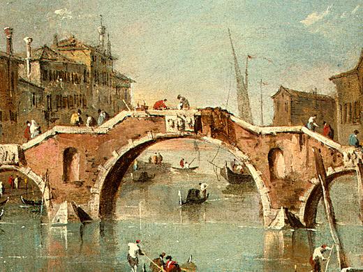 Guardi View on the Cannaregio Canal, Venice, c. 1775-1780,(2. Francesco Guardi