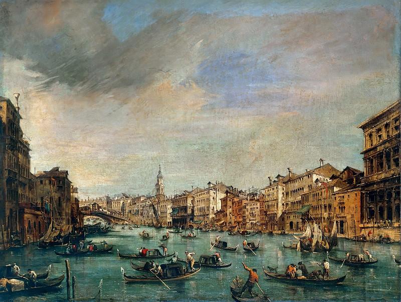 Большой канал с видом на мост Риальто. Франческо Гварди