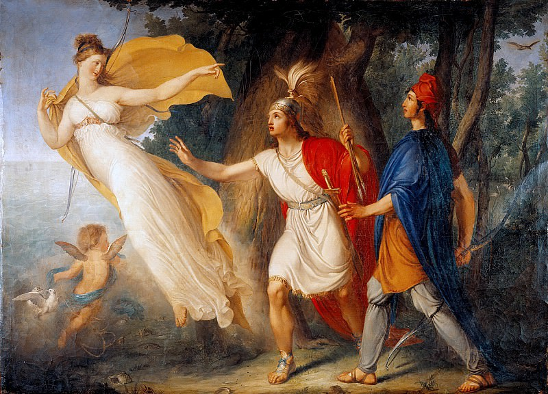 Venus appears to Aeneas on the shores of Libya. Gallo Gallina