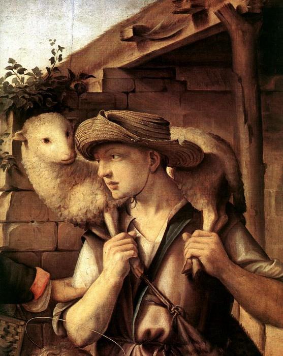 Поклонение пастухов, фрагмент. Доменико Гирландайо