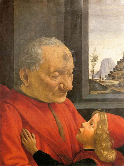 GHIRLANDAIO Domenico An Old Man And His Grandson. Доменико Гирландайо