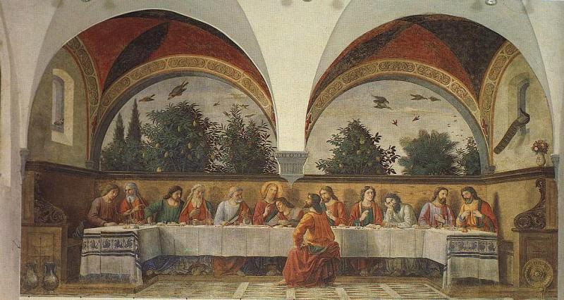 THE LAST SUPPER OGNISSANTI FIRENZE. Domenico Ghirlandaio