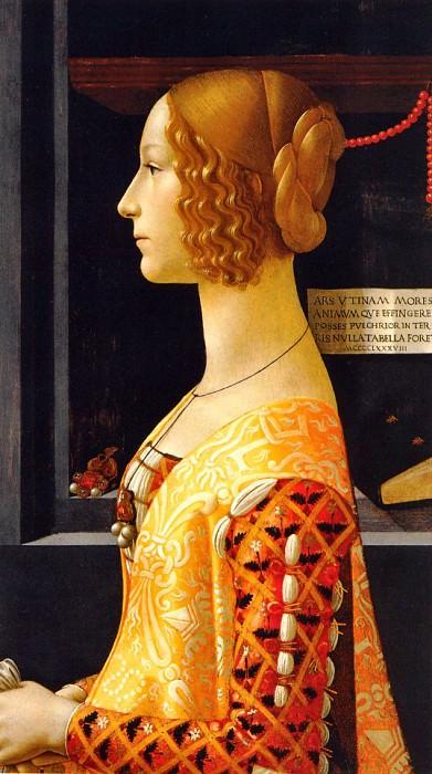 Portrait of Giovanna Tornabuoni 1488. Domenico Ghirlandaio