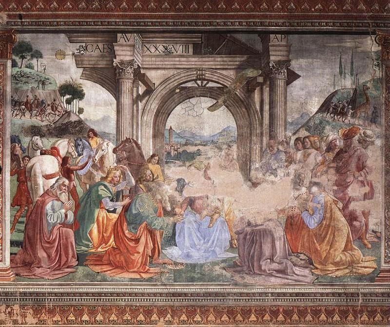 Adoration Of The Magi. Domenico Ghirlandaio