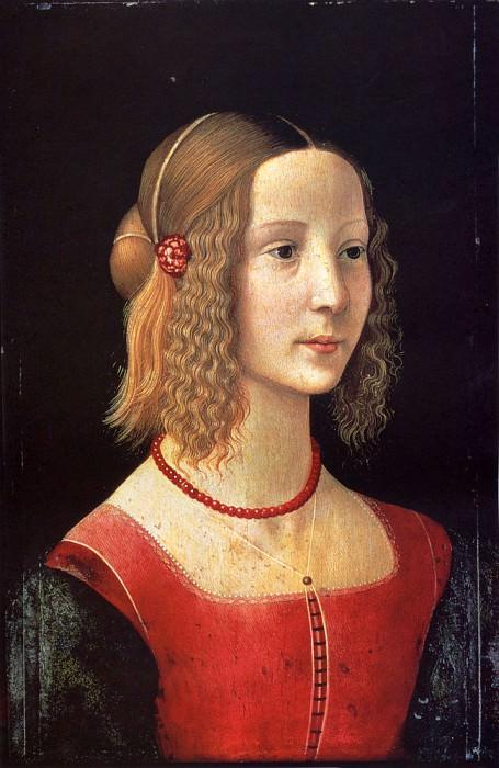 Portrait Of A Girl. Domenico Ghirlandaio