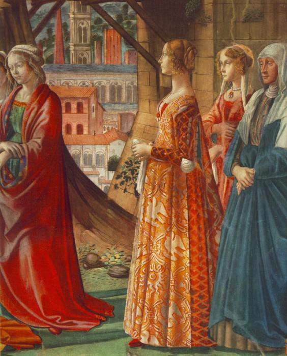 GIOVANNA TORNABUONI AND HER ACCOMPANIMENTSMARI. Domenico Ghirlandaio