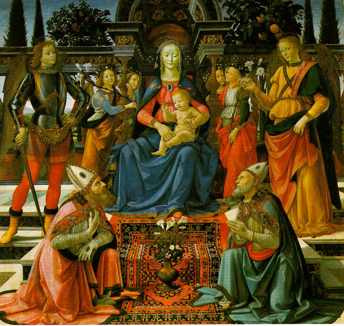 Мадонна с Младенцем и Святыми, ок.1484. Доменико Гирландайо