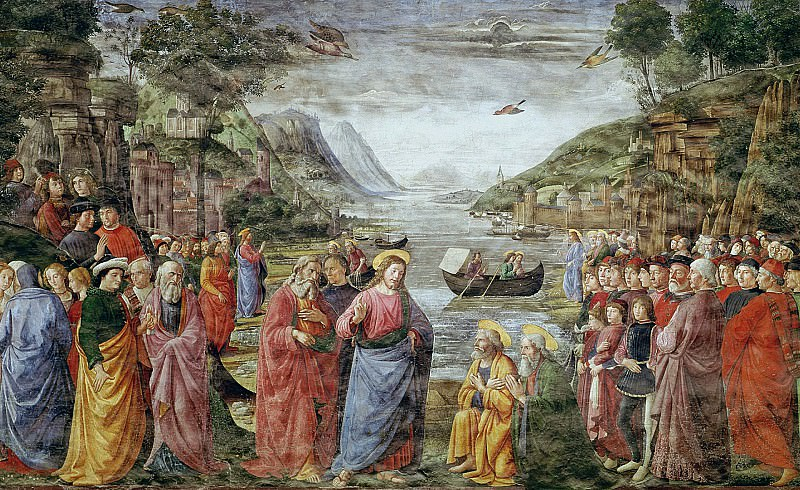 Calling of the Apostles Peter and Andrew. Domenico Ghirlandaio